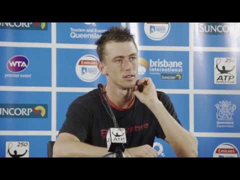 John Millman press conference (2R) - Brisbane International 2015