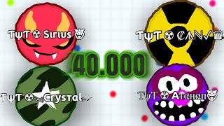 getlinkyoutube.com-40.000 Mass // TψT ☢ Clan destroying Agario Lobby // Agario Gameplay