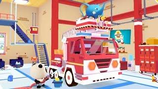 getlinkyoutube.com-Dr. Panda Пожарная команда. Пожарная машина. Мультики про пожарных. Веселые пожарники зверята.