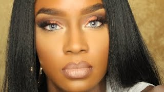getlinkyoutube.com-Desio Eyes Contact Lenses | 3 Colors | Dark Brown Eyes & Dark Skin
