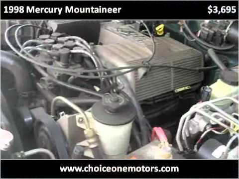 1998 Mercury Mountaineer Problems Online Manuals And