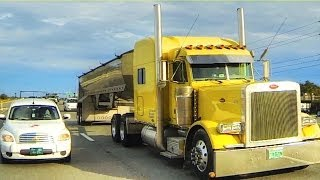 getlinkyoutube.com-Albert's Transport - Rolling CB Interview™  2003 Peterbilt Frameless Dump Trailer