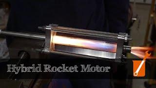 getlinkyoutube.com-Hybrid rocket engine with acrylic and gaseous oxygen