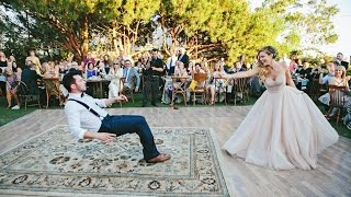 getlinkyoutube.com-Bride puts a spell on her magician groom during first dance