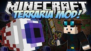getlinkyoutube.com-Minecraft | TERRARIA MOD! (Eye of Cthulhu, Excaliber, Obsidian Skulls & More!) | Mod Showcase