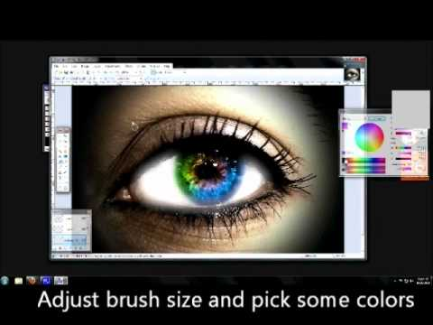 Eye Color and Makeup in Paint.NET - PracTuts
