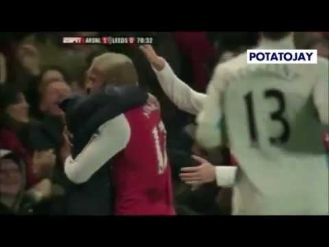Thierry Henry goal against Leeds 2012. ESPN video with John Motson commentary