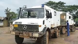 UNIMOG operation at Bopulu Town, Liberia, 25 July 2012