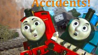getlinkyoutube.com-Slow Motion Thomas & Friends Crashes!