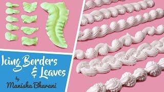 getlinkyoutube.com-Fresh Cream Icing Borders & Leaves  - How To Make Borders & Leaves - Cake Decorating Tutorial