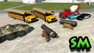 getlinkyoutube.com-Cartoon pirates buses, police cars, автобусы пираты напали на машинки, BeamNG Drive