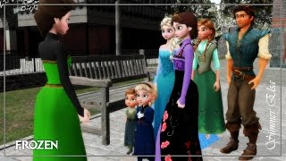 MMD - [Frozen] Nature Elsa sings for young Elsa