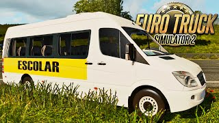 getlinkyoutube.com-Mercedes Benz Sprinter Escolar - Euro Truck 2