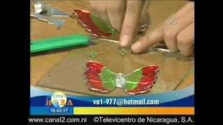 getlinkyoutube.com-Repujado en Metal, elaboración de mariposas para árbol de Navidad