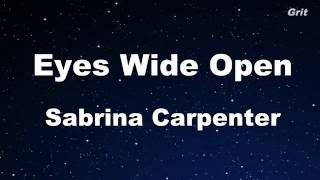 getlinkyoutube.com-Eyes Wide Open - Sabrina Carpenter Karaoke 【No Guide Melody】 Instrumental