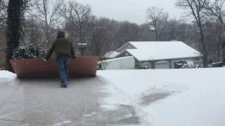 getlinkyoutube.com-Hack for shoveling snow off driveway.