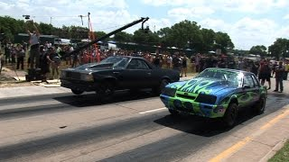 getlinkyoutube.com-Street Outlaws KAMIKAZE El Camino -vs- Mustang
