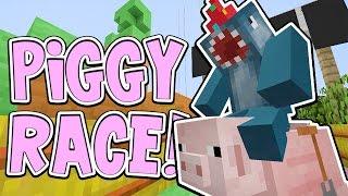 getlinkyoutube.com-Minecraft Xbox - PIGGY RACE!! - Building Time [#75]