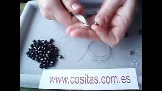 getlinkyoutube.com-Collar clásico centro racimo negro