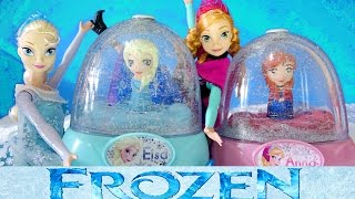 getlinkyoutube.com-FROZEN ELSA GLITTER GLOBES How to Paint Elsa Anna Olaf 3 Disney Snow Domes