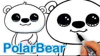 getlinkyoutube.com-How to Draw a Polar Bear Cute and Easy