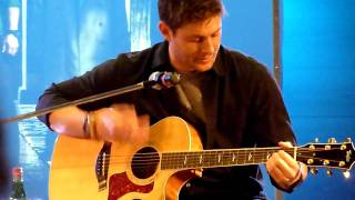 "getlinkyoutube.com-Jensen Ackles Singing ""The Weight"" at Jus in Bello"