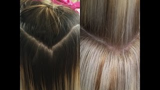 getlinkyoutube.com-RETOUCHING DARK ROOTS TO BLONDE ROOTS | NEW TECHNIQUE
