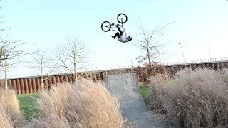 16 YEAR OLD BMX KID CRAZY FLAIR WHIP ON STREET