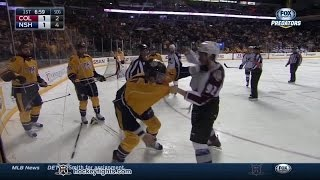 getlinkyoutube.com-Gabriel Landeskog vs Shea Weber Feb 24, 2015