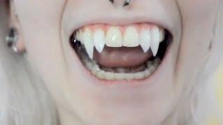 getlinkyoutube.com-Como fazer presas de vampiro em casa
