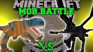 getlinkyoutube.com-TIGREX VS MUTANT IRON GOLEM & NIGHTMARE - Minecraft Mob Battles - Mods