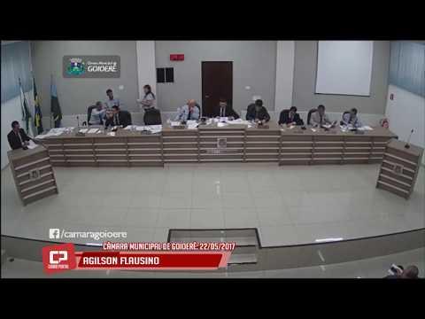 Vereador Agilson Flausino na Câmara Municipal do dia 22 de maio de 2017 - Cidade Portal