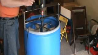 getlinkyoutube.com-Home Made 8 Frame Honey Extractor