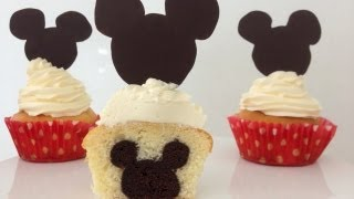 getlinkyoutube.com-Mickey Mouse Cupcakes Mickey on INSIDE How To Cook That Ann Reardon