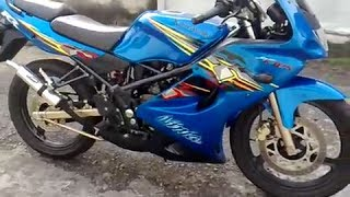 getlinkyoutube.com-Kawasaki Ninja RR 150 AHM Exhaust Sound (THORbaik)