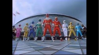 getlinkyoutube.com-Power Rangers Zeo with Alien Rangers and Ohranger: Ole vs Kakuranger  Roll Call