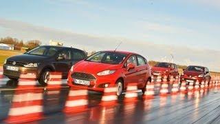 getlinkyoutube.com-Fiesta, Clio, Corsa und Polo im Vergleich