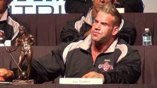 2011 MR OLYMPIA PRESS conference - questions for 4 time MR OLYMPIA jay cutler