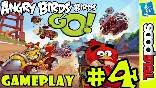 Let's Play Angry Birds Go: VICTORY!! (pt. 4) Whole Family TELEpods Gameplay Action