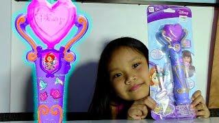 getlinkyoutube.com-Disney Sofia the First Recording Microphone - Kids' Toys