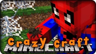 Minecraft Mods - CRAZY CRAFT 2.0 - Ep # 136 'SPIDERMAN!' (Superhero / Orespawn Mod)
