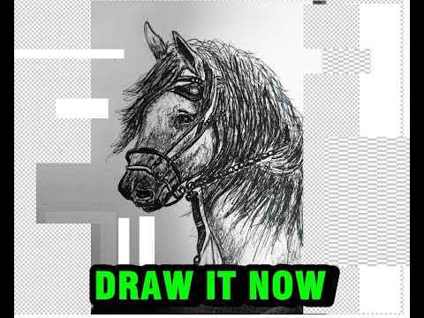 Download Thumbnail For How To Drawing Horse Simple With Pen And