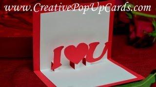 getlinkyoutube.com-Simple Valentine's day Pop Up Card Tutorial: Stepped Heart