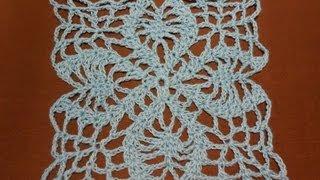 getlinkyoutube.com-Crochet Cuadro Piñas Abiertas