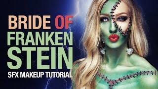 getlinkyoutube.com-Bride of Frankenstein Halloween makeup tutorial