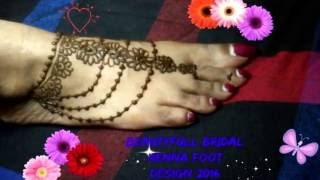 getlinkyoutube.com-simple Foot Mehndi (henna) Design for beginners- beauty subash