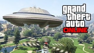 getlinkyoutube.com-GTA 5 Online - Secret UFO Mission! How To Get A Flying UFO, Skylift & Alien Car! (GTA V)
