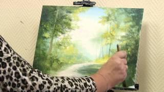"""getlinkyoutube.com-Мастер-класс от художника Александры Юровой по написанию картины маслом на тему """"Летний лес"""""""