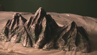getlinkyoutube.com-Mt Everest, Rocky Mountains Hot Wire model making