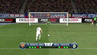 getlinkyoutube.com-PES 2015 - Penalty Shootout [Barcelona vs Real Madrid]